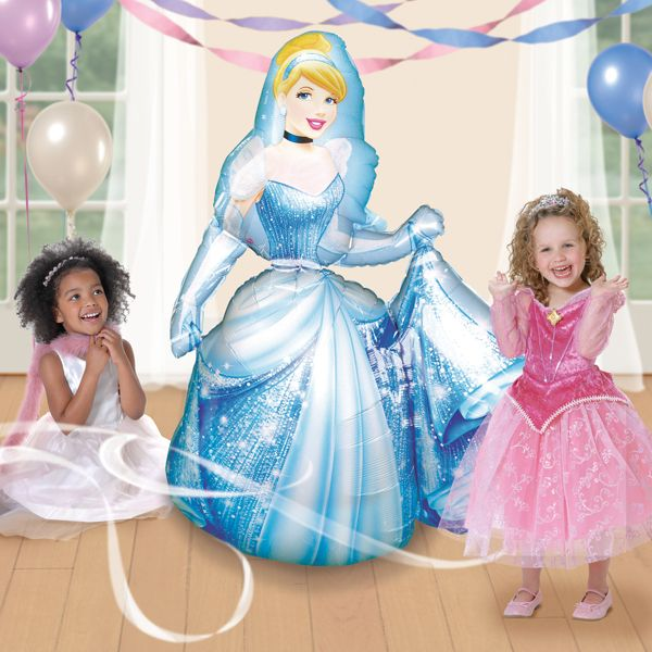 Let's Party With Balloons - Disney Cinderella Foil Airwalker Balloon, $40.00 (http://www.letspartywithballoons.com.au/cinderella-foil-airwalker-balloon/?page_context=category