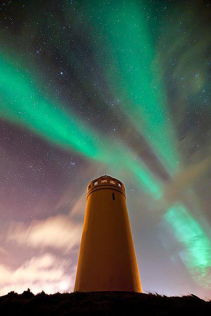Lighthouse under the stars.
