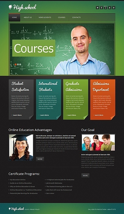Colorful #webdesign #template for education #website