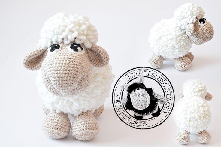 Agnieszka Mężyk, Szydełkowe Stwory, owieczka www.polandhandmade.pl #polandhandmade #crochet #amigurumi