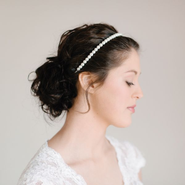 Pearl Bridal Headband by Pearl & Ivory ®  - Find more inspiring bridal hair accessories from our collection www.pearlandivory.com/hair-adornments. Photography by Yolande Marx #PearlandIvory #HairAdornments #HairAccessories #BridalHeadpiece #Headband #Headpiece #Pearl