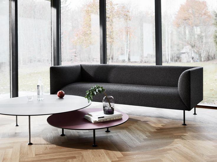Dimensions 60x120: Legs available in three sizes. H: 20/26/32 cm, L: 120 cm, W: 60 cm Materials – Steel, Forbo Linoleum Colours – Burgundy, Mauve,..