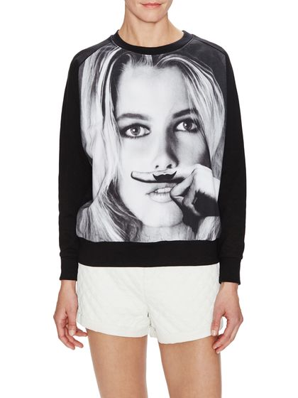 Cotton Raglan Printed Sweatshirt
