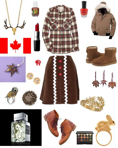 Canada themed styleboard on Kaboodle
