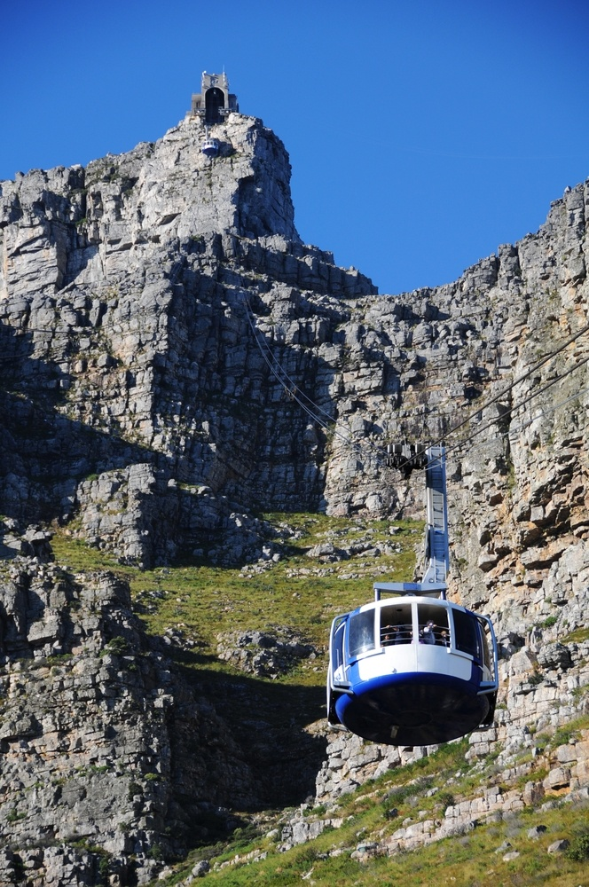 Table Mountain awaits the cableway's arrival.