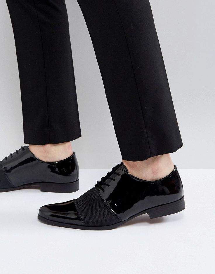 KG By Kurt Geiger Patent Lace Up Shoes - Black