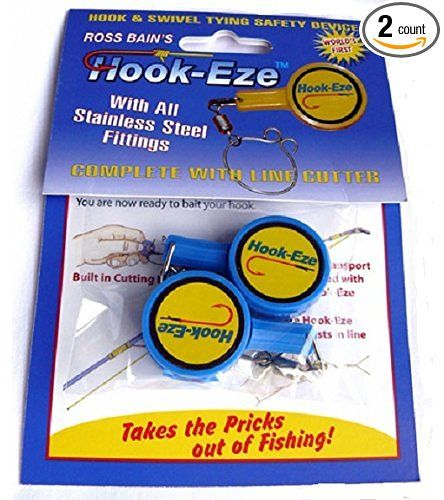 Hook eze blue 2pk fishing hook cover and safety tieing for Hook eze fishing tool