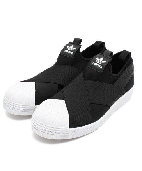 adidas(アディダス)の「ADIDAS アディダス SUPERSTAR  SLIP ON W      スーパースタースリッポン  S81337