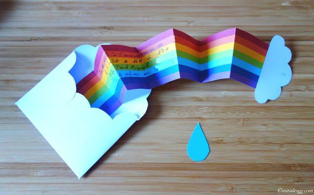 {DIY} Une invitation d'anniversaire en mode rainbow!