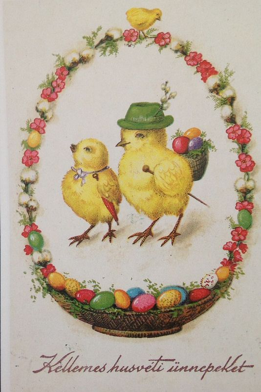 67 best images about Hungarian Vintage Easter Cards – Vintage Easter Cards