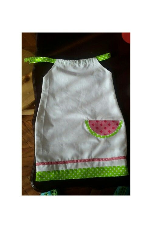 """Petite robe d'été """"pastèque"""" pour Ninette"""