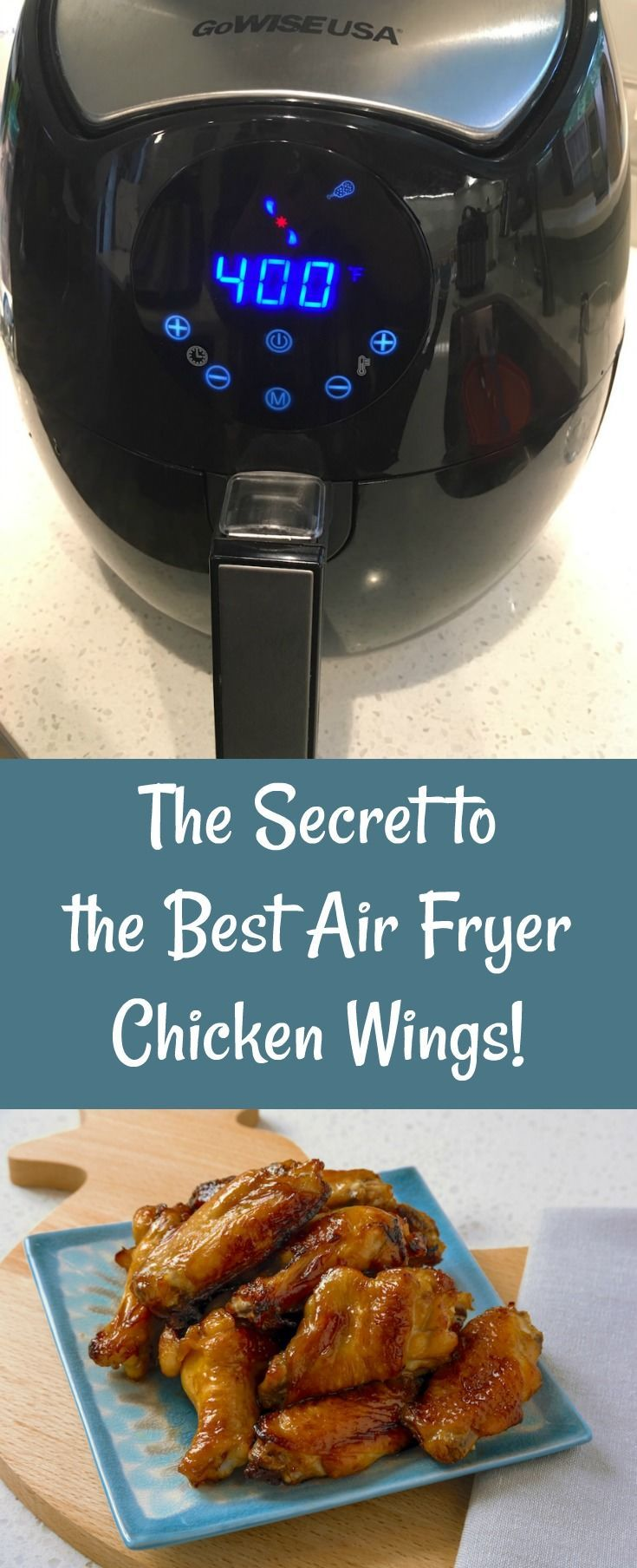 Want to know the secret to great Air Fryer chicken wings? I've got the easy recipe right here - with two variations (Asian and Mexican) for marinading sauces. So crispy and much more healthy than traditional wings! via @diy_candy