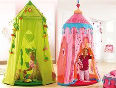 Tenda a baldacchino per bambini - La tenda baldacchino rappresenta per i bambini uno spazio raccolto e intimo dove rifugiarsi, nascondersi, giocare o riposarsi. Le finestre di tessuto di queste tende...