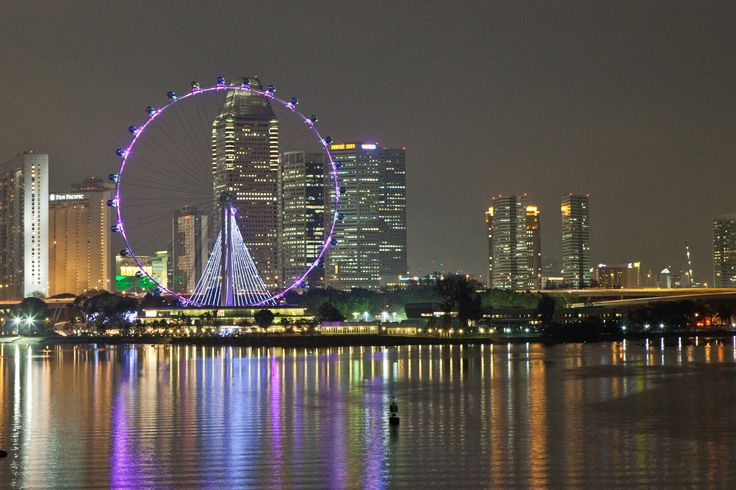 Singapore Flyer taken from the Marina Barrage-1