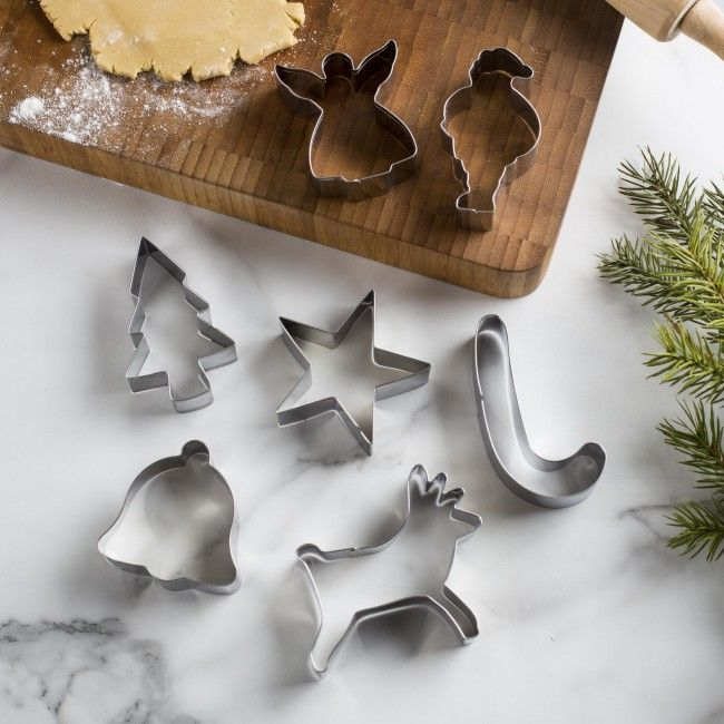 Celebrate the season with some delicious and fun cookies. The Fox Run Christmas Cookie Cutter Set comes with 7 stainless steel cutters. The cutters can also be used to give you festive shapes in your fruits as well.
