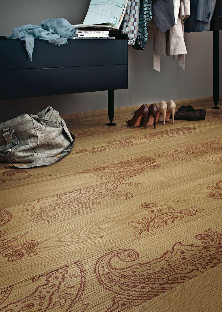 Paisley, design Carlo Dal Bianco for XILO1934 wood floors.