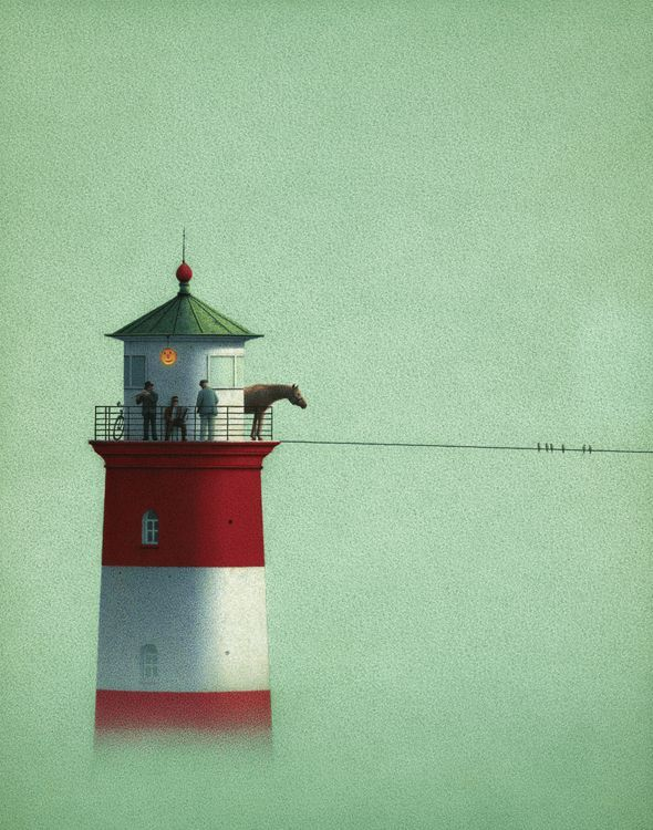 Lighthouse and Fog by Quint Buchholz