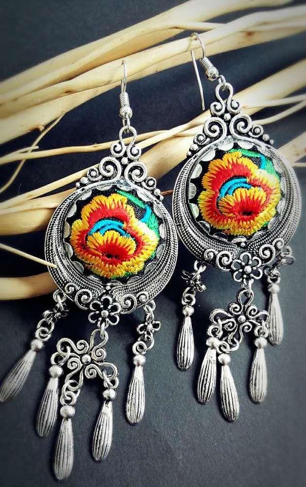 Miao Embroidery Earrings