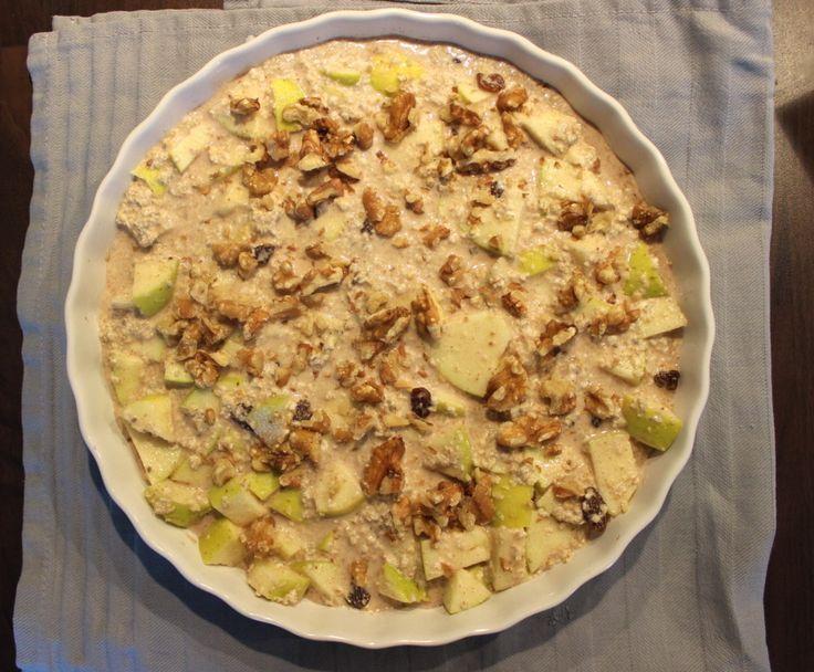 Havermout appel taart voor ontbijt6