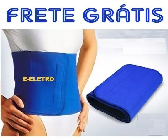 faixa cinta abdominal neoprene unisex frete grátis brasil