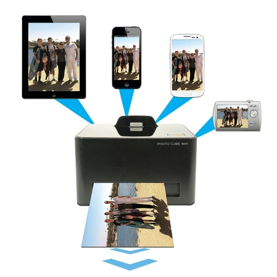 No computer required! View and print photos from your smartphone or tablet while charging.