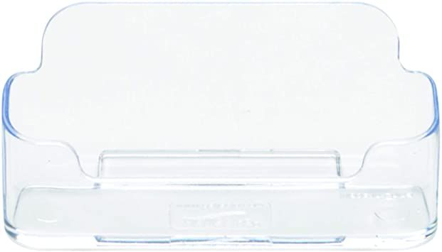 Deflecto Business Card Holder Single Compartment 3 3 4 Quot W X 1 7 8 Quot H X 1 3 8 Quot D Business Card Holders Clear Business Cards Business Card Displays