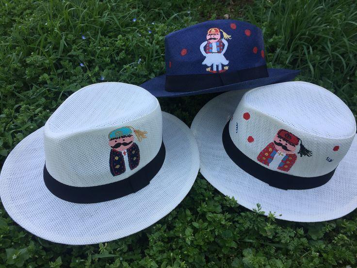 Cotton Prince handpainted Panama hats! summer 2017🌞🇬🇷💙🎩