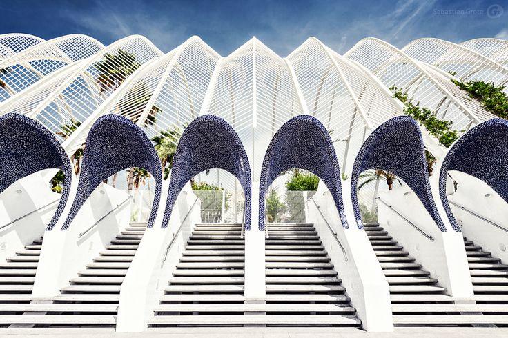 santiago calatrava arquitecto / l'umbracle, ciudad de las artes y las ciencias valencia