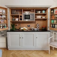 """Culshaw Kitchenettes - Free standing compact kitchen furniture.  45"""" Wide?"""