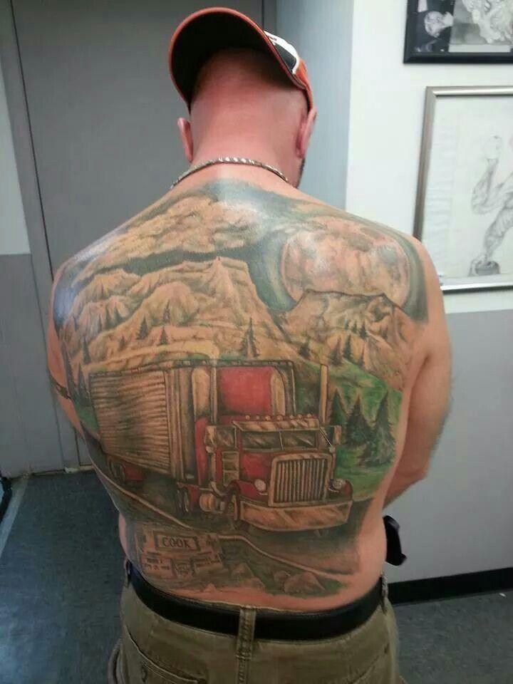 Big Dump Trucks >> Wow, now that's a tattoo! #Free #Loadboard #ReferATruck | Truck tattoo, Truck art, Tattoos