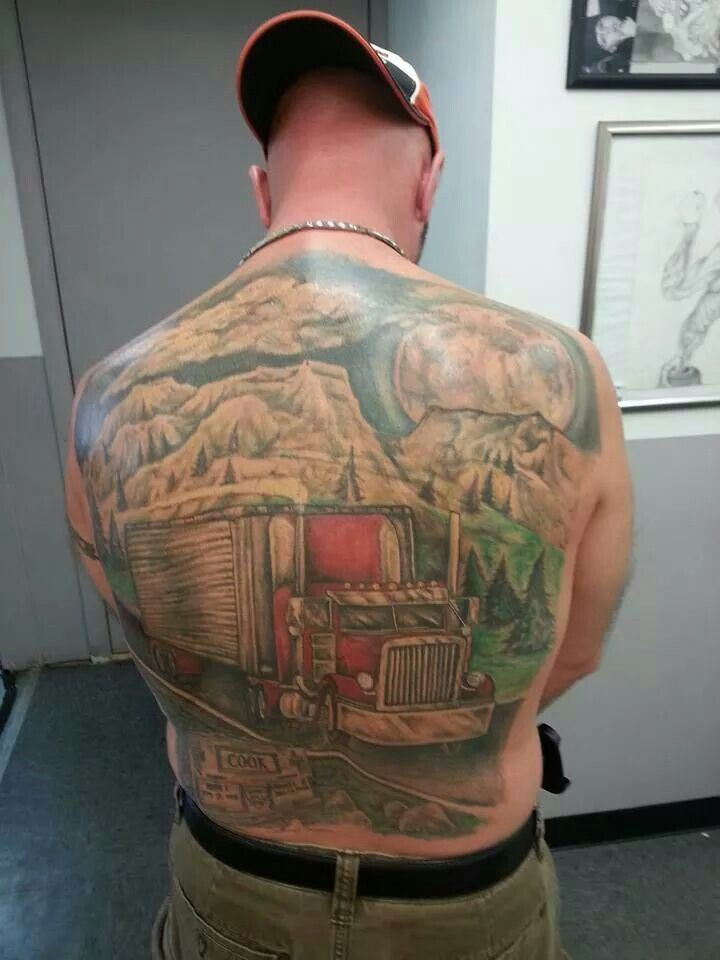 17 best images about truck art on pinterest rigs ned for Truck tattoos designs