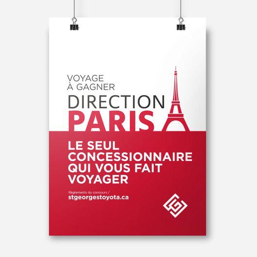 St-Georges Toyota / Affiche publicitaire / Beez Créativité Média