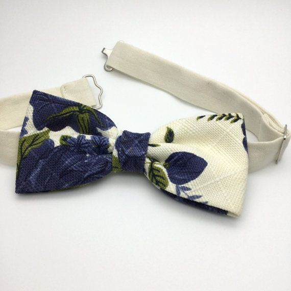 We proudly present our premium handmade pre-tied bow tie with Clip On for Adult/Men/Women/Kids/Children/Toddler/Baby boy/girl….  ***Due to the design of this floral print, the placement of the pattern may vary on each bow tie and may not necessarily look the same as in the pictures. This makes each bow tie even more unique!  **The bow tie is pre tied and hand stitched into place.**  Material: Cotton Attachments: -Clip-On (Strapless) -Adjustable Velcro Strap ...