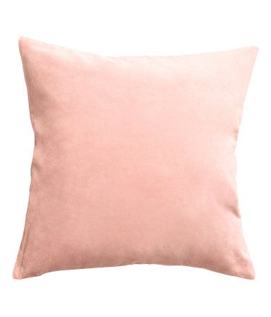 blush velvet pillow