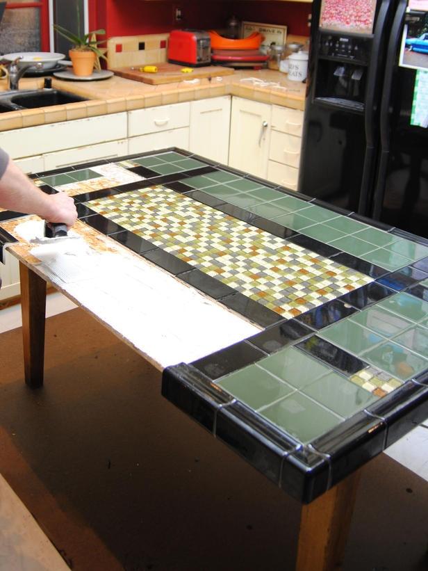 112 best tile it images on pinterest | tile tables, lazy susan and