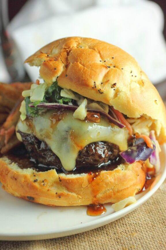 Asian Style Burger   bsugarmama.com