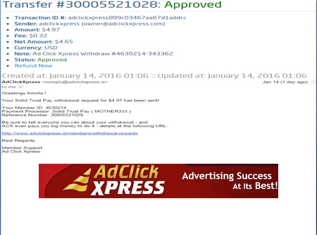 """INCOME JUST BY WATCHING ADS AND POSTING """"I WORK FROM HOME less than 10 minutes and I manage to cover my LOW SALARY INCOME. If you are a PASSIVE INCOME SEEKER, then AdClickXpress (Ad Click Xpress) is the best ONLINE OPPORTUNITY for you  And many more earnings with AdclickXpress like  GET RICH POSTING YOUR PAYOUT PROOFS AND GET REWARDS... For more Details Dial +919153180418To join Click the given link :- http://www.adclickxpress.is/?r=cpzhzj4ycxh&p=mx"""