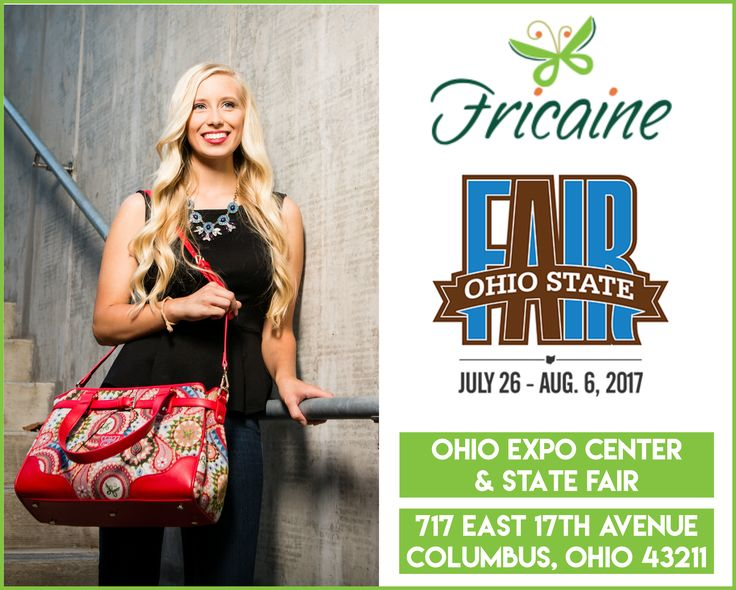 Fricaine will be at Ohio State Fair (Columbus, OH)  26th July to 6th August  Come visit us and discover an exotic collection of luxury handbags.  Ohio Expo Center & State Fair 717 E. 17th Ave, Columbus, OH 43211  #fricaine #exotic #fashion #women #bag #beautiful #classy #chic #handbags #purses #wallets #clutches #backpacks #show