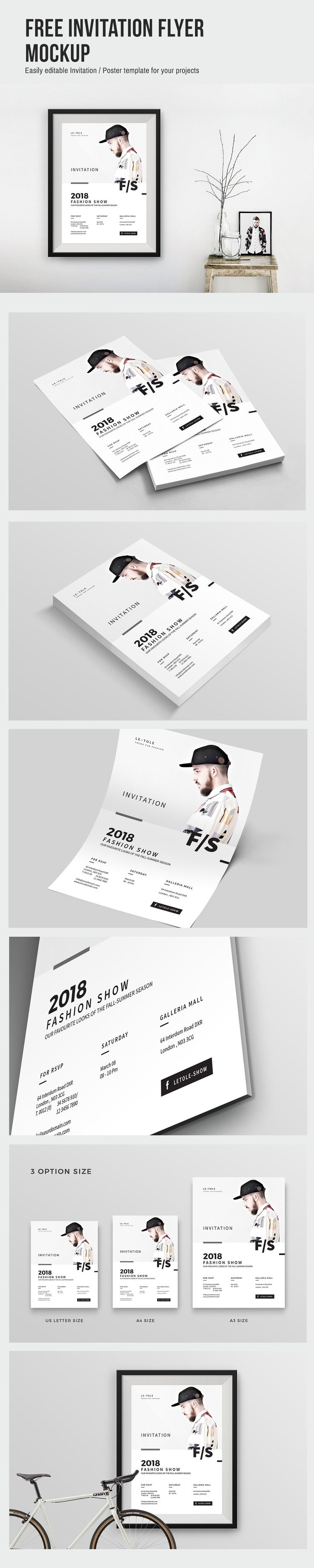 Invitation Flyer Mockup - Free Download | DezineMag