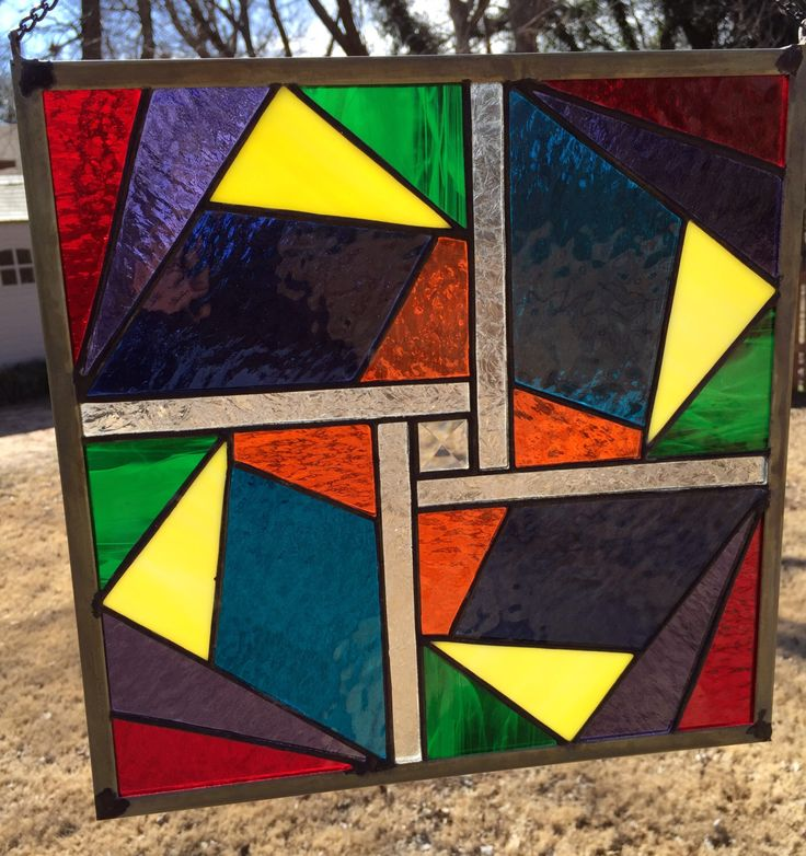 Contemporary Stained Glass Panel - Geometric (PLG015) by PeaceLuvGlass on Etsy https://www.etsy.com/listing/174233500/contemporary-stained-glass-panel