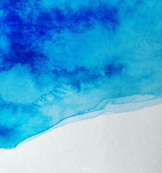 Watercolour Painting Of A Glacier Melt Pool In 2020 Glaciers