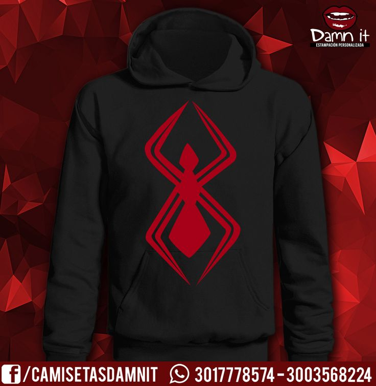 Buzo con capucha y Bolsillo, Spiderman. Traje de Comic Deadpool/Spiderman #8   http://www.facebook.com/camisetasdamnit