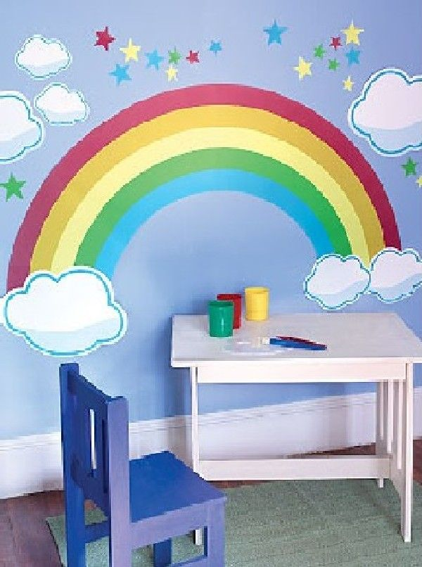 23 best rainbow wall images on pinterest rainbow wall for Rainbow kids room