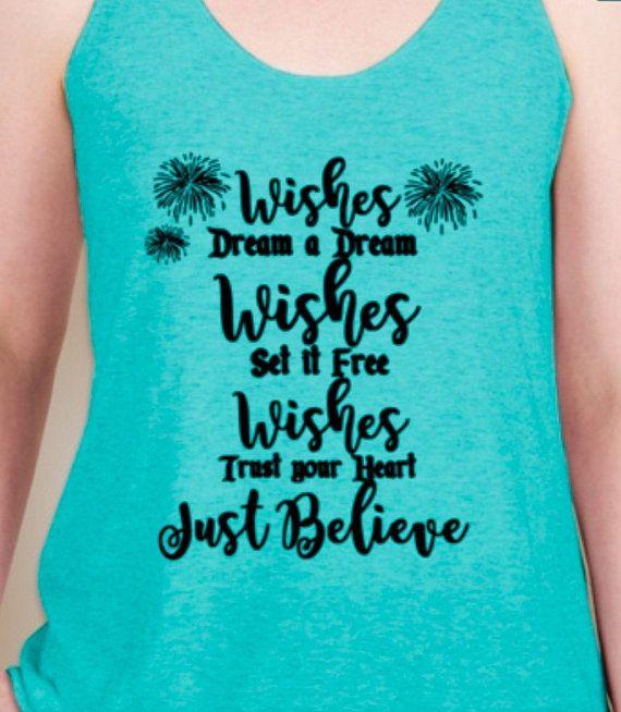 Wishes Tank // Disney Wishes tank // Magic Kingdom Fireworks Tank // Fireworks Tank // disney family shirt // disney princess //disney world