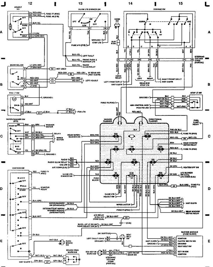 22 Best Jeep Yj Parts Diagrams Images On Pinterest Morris 4x4 Rhpinterest: 95 Wrangler Wiring Diagram Column At Oscargp.net