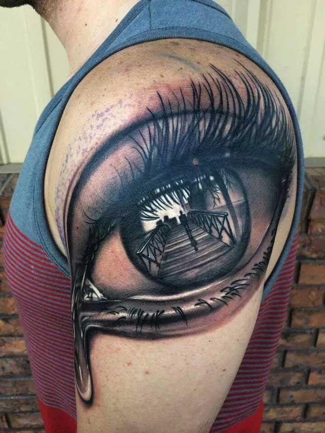Reflecting Eye Tattoo
