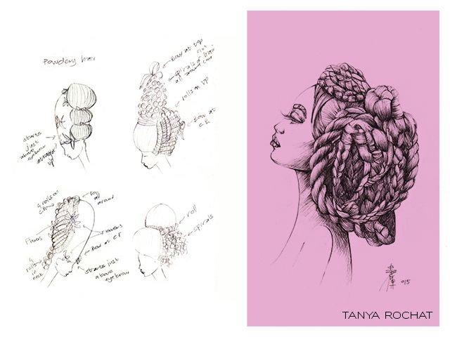 Fashion Illustrations of Hair Design by Tanya Rochat.