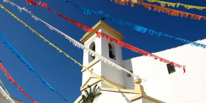 Fiestas Es Migjorn Gran, iglesia decorada