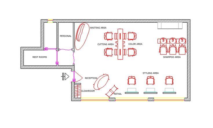 Combeauty Salon Floor Plan : Beauty Salon Layouts Floor Plan  Floor Plan Idei Salon, Salon Design ...