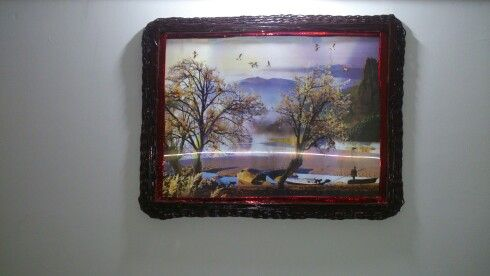 Photo frame made from newspaper